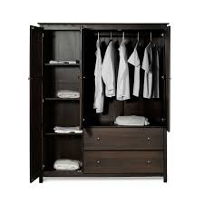 bedroom wardrobe armoire espresso wood finish bedroom wardrobe armoire cabinet closet