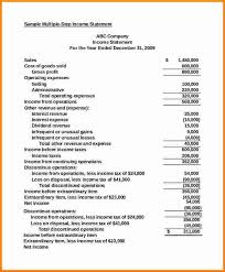 8 sample income statement template sql print statement