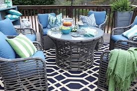 Hamptons Style Outdoor Furniture - backyard deck makeover for a growing family