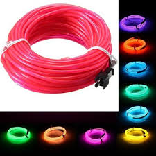 10m el led soft wire neon glow car rope light