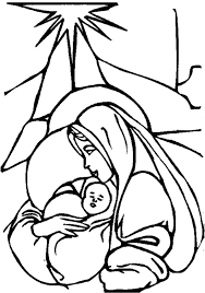 mary baby jesus coloring svg files baby