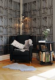 fake bookshelf wallpaper idesignarch interior design