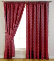 interior design red white polkadot window blackout curtain best