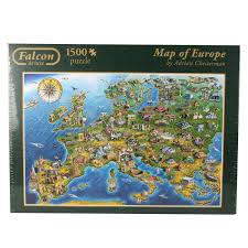 Europe Map 1500 Falcon De Luxe Map Of Europe Jigsaw Puzzle 1500 Pieces Amazon