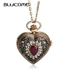 antique necklace vintage images Blucome vintage flower love heart shape necklace crystal resin jpg