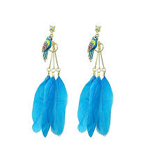 feather earrings online buy world wide traders colorful feather earrings enamel parr