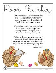 poor turkey thanksgiving poem woo jr activities