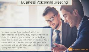 business greeting business voicemail greeting exles