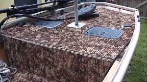 hydroturf installed in duracraft jon boat gatortrax pattern