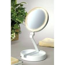 desk chic wall mounted mirror and light with white wooden