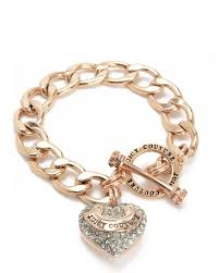 gold bracelet with heart charm images Designer bracelets for women juicy couture jpg