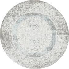 light blue round area rug unique loom arcadia light blue 4 ft x 4 ft round area rug 3133041