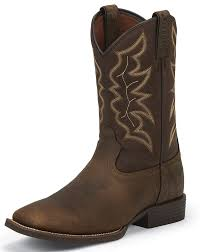 womens justin boots size 11 justin s stede 11 square toe boots brown