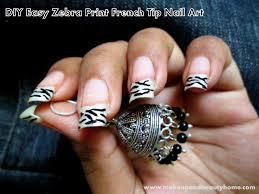 diy easy zebra print french tip nail art tutorial blog beauty