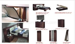 finish modern wooden bed with headboard storage