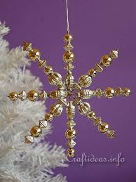 craft and tree decoration beaded snowflakes