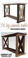 diy x brace console table free plans console tables consoles