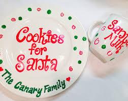 santa cookie plate etsy