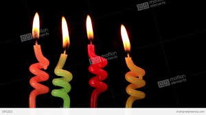 candles on a birthday cake burning down stock video footage 895283