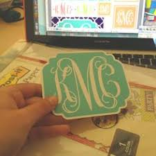 monogram letter stickers how to make monogrammed stickers monograms cricut and craft