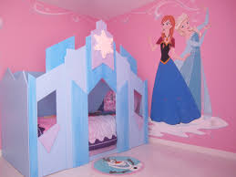 girls castle beds frozen room with elsa and anna and two twin ice castle beds at