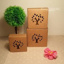 Gift Tree Free Shipping Retail Gift Brown Paper Box With Tree Window Handmade Soap Candy