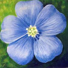 blue flower blue flower painting by marcella marston