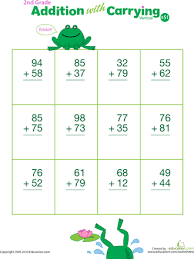 double digits practice vertical addition with carrying 51