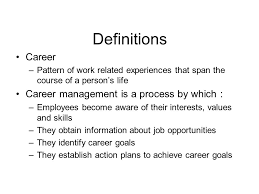 chapter 11 career and career management objectives 1 identify the