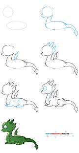 25 easy dragon drawings ideas kawaii art