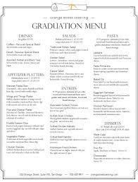 graduation catering menu event catering menu