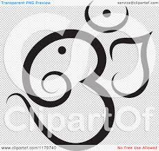 mazda logo transparent clipart of a black and white om or aum hinduism symbol royalty