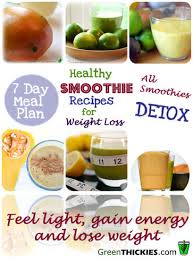 healthy meal plans for weight loss 2 healthy smoothie recipes for