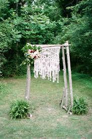 Wedding Altar Backdrop Natural Romantic Wedding With Macrame Details Ruffled
