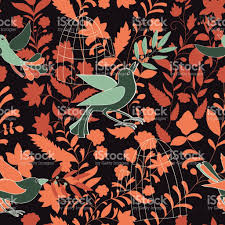 Wallpaper With Birds Dark Colorful Seamless Wallpaper With Birds Olive Branches And