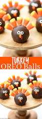 thanksgiving treats turkey oreo balls