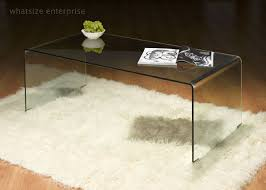 all glass coffee table bent glass coffee table clear