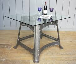 cast iron glass table industrial glass cast iron table