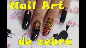 nail art de riscos de zebra animal print youtube