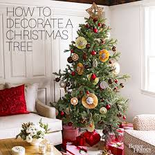 decorated christmas trees how to decorate a christmas tree better homes gardens