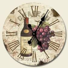 grape home decor new 12 wall clock in box chateau wine grapes vineyard tuscan