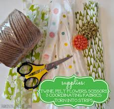 spring fabric garland an easy no sew project
