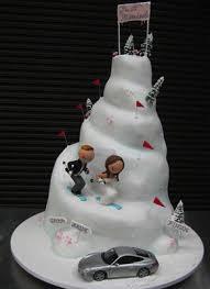 top of cupcake wedding cake make waterslides instead of ski