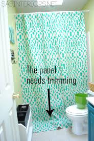 diy stenciled shower curtain using drop cloth jenna burger