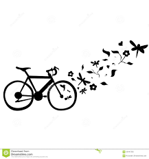 cycling floral wall decal vector illustration stock image cycling floral wall decal vector illustration