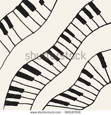 piano keys sketch abstract music background stock vector 331339295