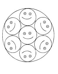free mandalas page mandalas smiley smiley mandala coloring page