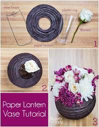 White Lantern Centerpieces by Diy Paper Lantern Vase Centerpiece Smarty Had A Party Blog
