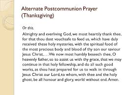 anglican eucharistic prayers ppt
