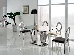 glass dining room table sets modern glass dining table room and chairs thedigitalhandshake